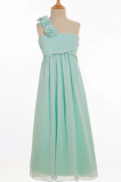 One Shoulder A-line Floor Length Bridesmaid Dress_2