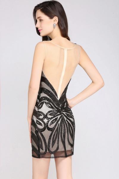 Attractive Scoop Sequined Column Homecoming Dress_4