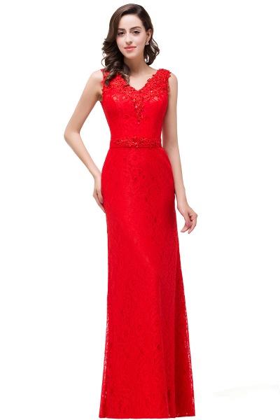 EMERIE | Mermaid Floor-length Sleeveless V-Neck Lace Prom Dresses_4