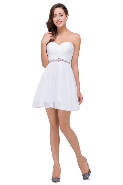 EMILEE | A-line Sweetheart Short Prom Dresses with Beadings_4