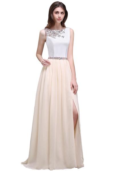 ALAYA   Sheath Jewel White Long Evening Dresses With Beads_8