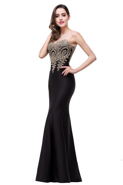 Mermaid Floor-Length Sheer Prom Dresses with Rhinestone Appliques_22