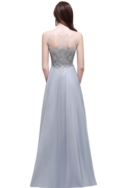 Scoop Chiffon A-line Floor Length Bridesmaid Dress_3