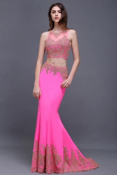 Fascinating Jewel Stretch Satin Column Prom Dress_7