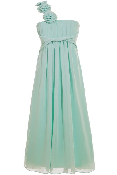 One Shoulder A-line Floor Length Bridesmaid Dress_4