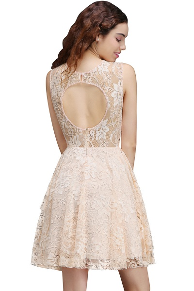 Precious Jewel Lace A-line Homecoming Dress_3