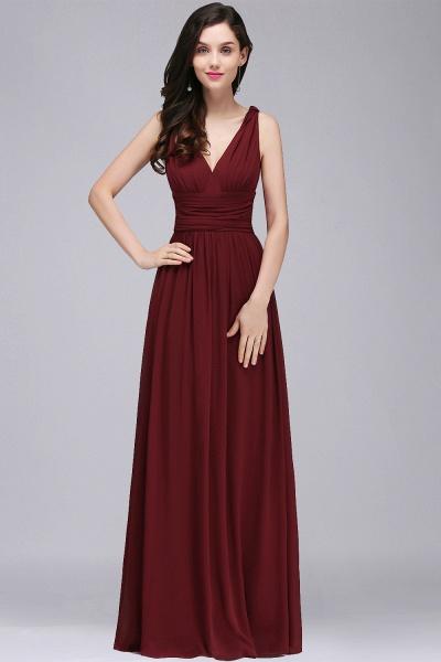 Wonderful V-neck Chiffon A-line Evening Dress_2