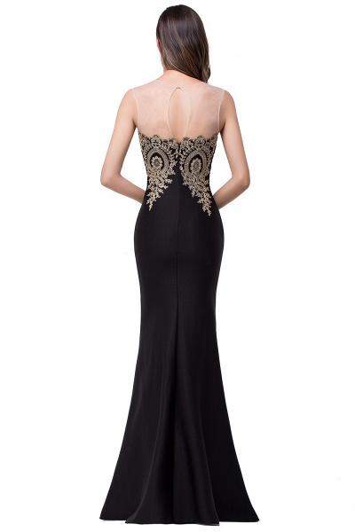 Mermaid Floor-Length Sheer Prom Dresses with Rhinestone Appliques_20