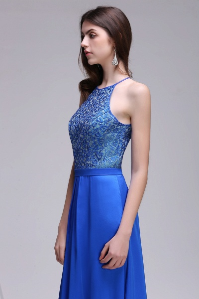 CALLIE | A-line Halter Neck Chiffon Royal Blue Prom Dresses with Sequins_4