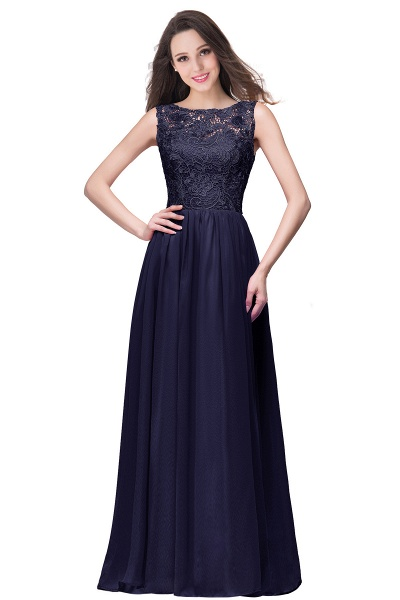 Fascinating Jewel Chiffon A-line Bridesmaid Dress_6