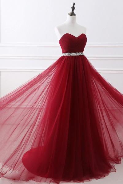 Glorious Strapless Organza A-line Evening Dress_11
