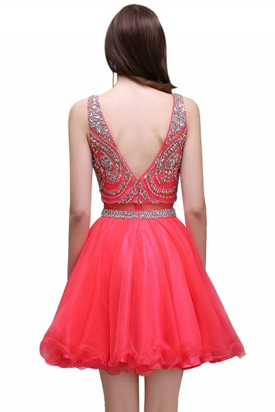 BIANCA | Puffy Straps Short Tulle Homecoming Dresses With Crystal_3