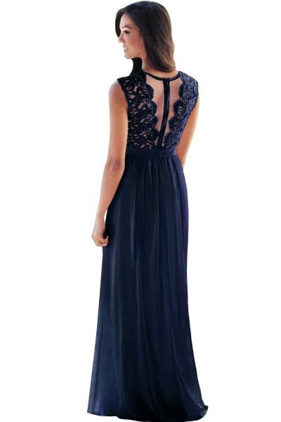 Sheath Crew Sleeveless Floor-length Lace Top Chiffon Bridesmaid Dresses_15