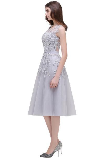 EMORY | A-Line Crew Tea Length Lace Appliques Short Prom Dresses_10