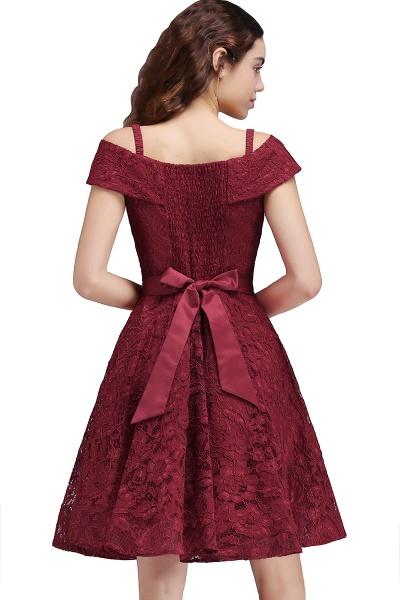 BRISTOL | A-Line Spaghetti Straps Short Lace Burgundy Homecoming Dresses_2