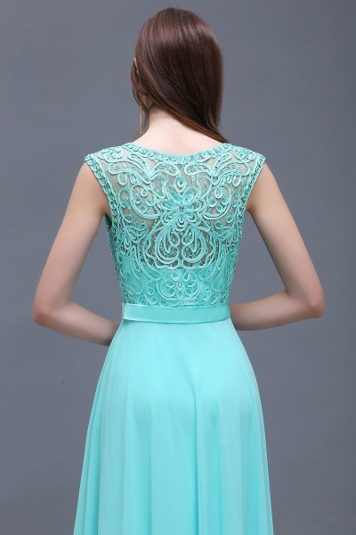 Affordable Jewel Chiffon A-line Evening Dress_7