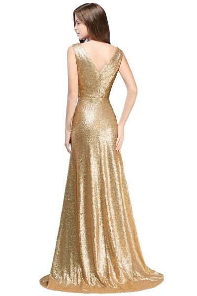 Beautiful V-neck Sequined A-line Evening Dress_4