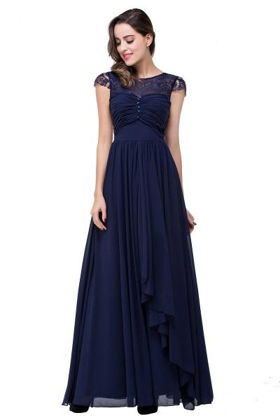ELLEN   A-line Short Sleeves Chiffon Bridesmaid Dresses with Ribbon Bow_8