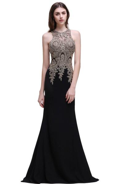 Modest Jewel Chiffon Mermaid Prom Dress_5
