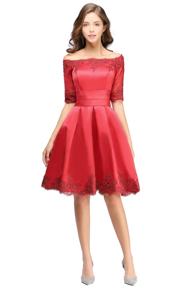 Chic Off-the-shoulder A-line Homecoming Dress_12