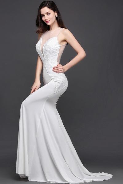 Modest Jewel Chiffon Mermaid Evening Dress_6