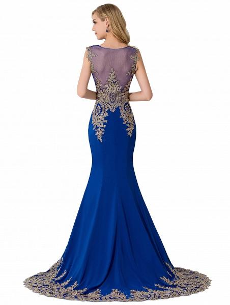 Mermaid Appliques Chiffon Court Train Evening Dress_12