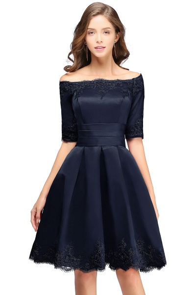 Chic Off-the-shoulder A-line Homecoming Dress_4