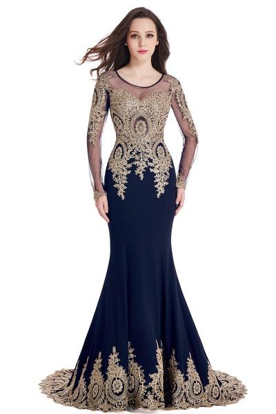 Beautiful Jewel Stretch Satin Mermaid Prom Dress_7