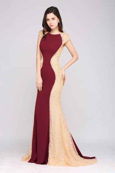 ANYA | Mermaid Scoop Burgundy Pretty Evening Dresses_6