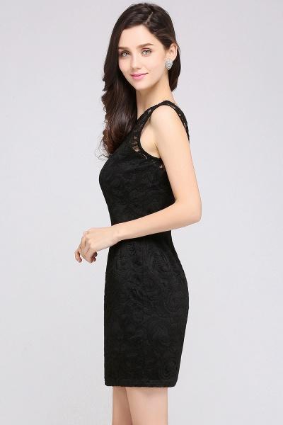 Elegant Scoop Lace Column Bridesmaid Dress_10