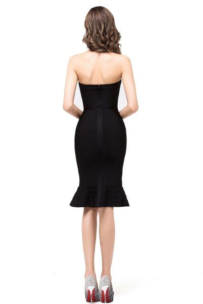 DALLAS | Mermaid Strapless Knee-Length Short Black Prom Dresses_3