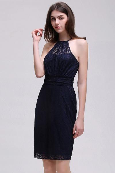 Amazing Halter Lace Column Homecoming Dress_9