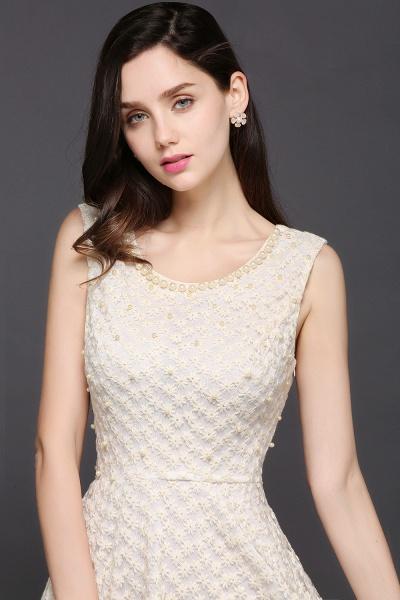 CHRISTINE | Princess Scoop neck Knee-length Lace Sexy Prom Dress_6