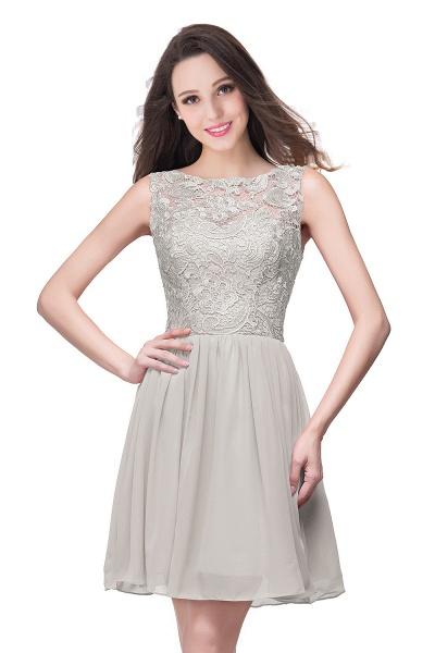 ELIANA | A-line Short Sleeveless Bateau Chiffon Ruffles Lace Top Prom Dresses_8