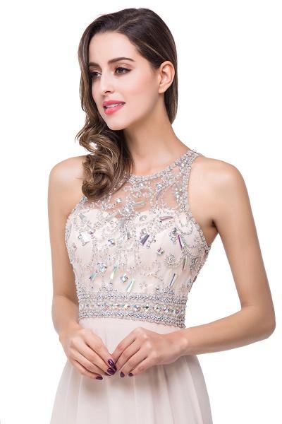 Eye-catching Jewel Chiffon A-line Evening Dress_4
