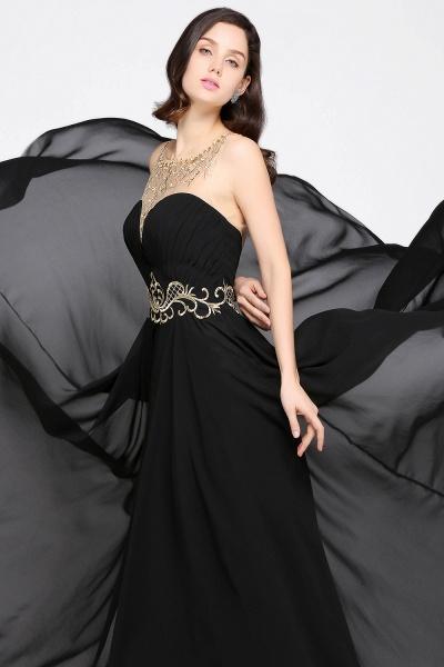 Awesome Jewel Chiffon A-line Evening Dress_7