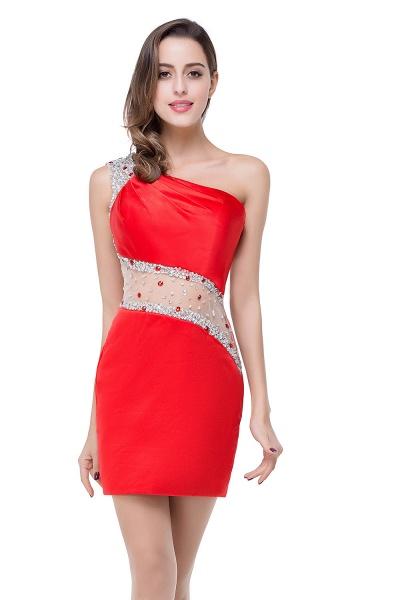 ELLE | Mermaid One-shoulder Short Prom Dresses with Crystal Beadings_8