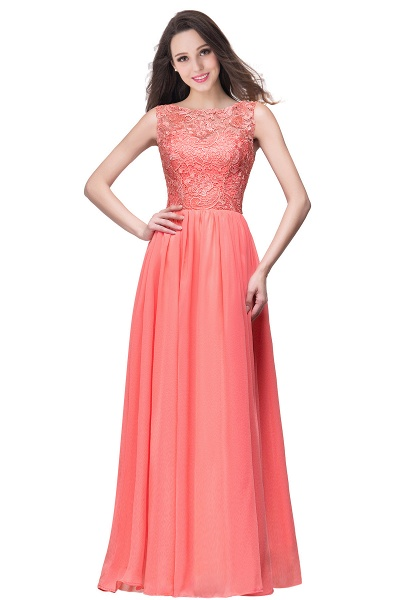 Fascinating Jewel Chiffon A-line Bridesmaid Dress_1