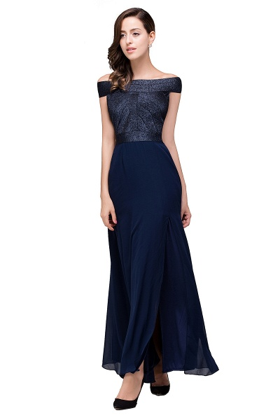FRANCESCA | Sheath Off Shoulder Floor-Length Chiffon Prom Dresses_6