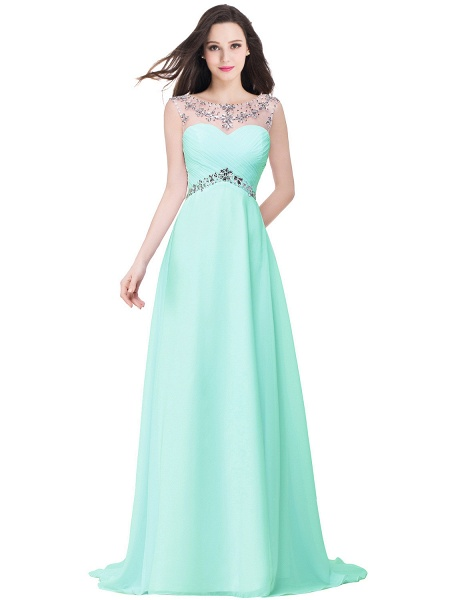 A-line Sweetheart Crystal Chiffon Evening Dress_4