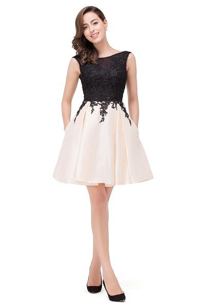 EVA | A-line Sleeveless Lace Appliques Short Prom Dresses_6