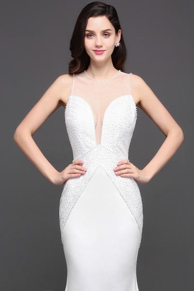 Modest Jewel Chiffon Mermaid Evening Dress_8