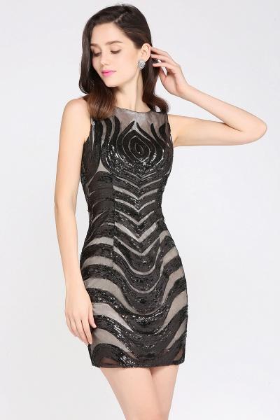 Attractive Scoop Sequined Column Homecoming Dress_5