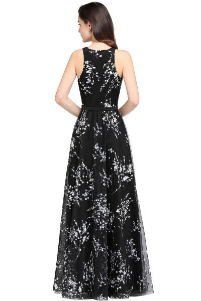Eye-catching Jewel Stretch Satin A-line Evening Dress_8