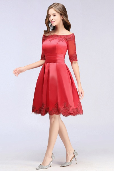 Chic Off-the-shoulder A-line Homecoming Dress_10
