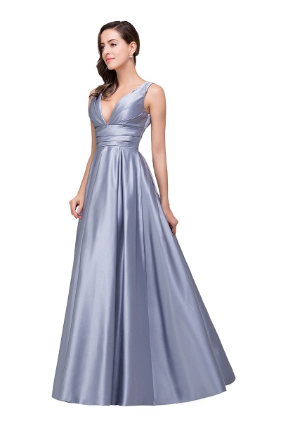 2017 Sexy Evening Gowns Deep V Neck Beaded Pageant Dresses_6