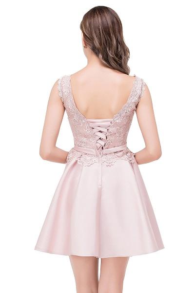 A-line Lace Knee-length Satin Homecoming Dress_7