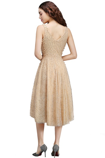 Attractive Straps Satin A-line Homecoming Dress_2