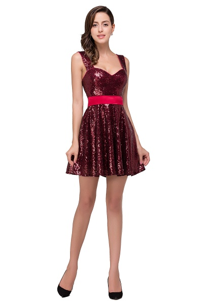 Excellent Sequined A-line Homecoming Dress_1