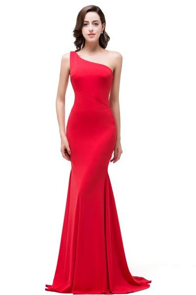 EMMALYN | Mermaid One-Shoulder Floor Length Red Prom Dresses_4